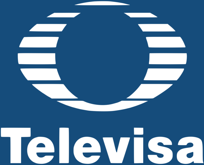 Televisa logotipo, logo, blue background
