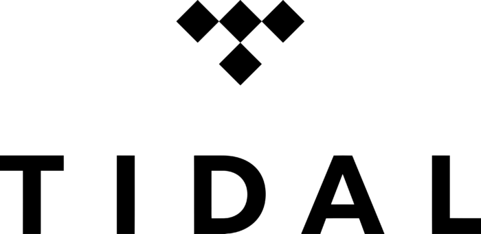 Tidal logo, vertical