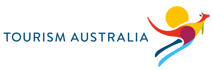 Tourism Australia logo, wordmark, horizontal