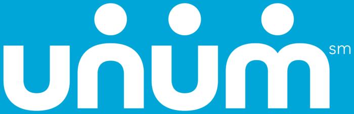Unum logo, blue background