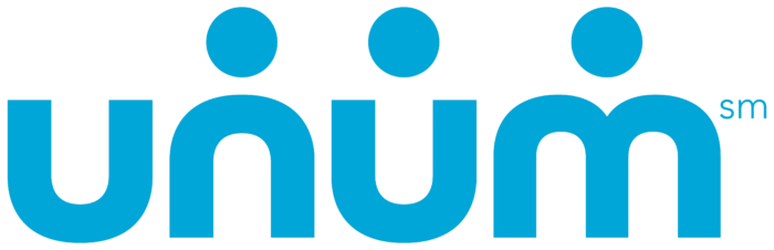 Unum logo, light blue