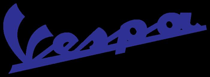 Vespa logo, blue
