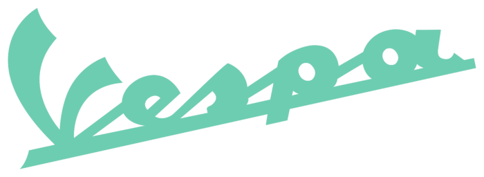 Vespa logo, light green