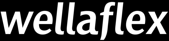 Wellaflex logo, black bg