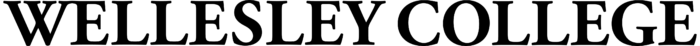 Wellesley College wordmark, logo, black