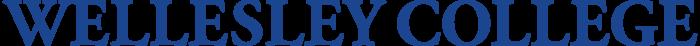 Wellesley College wordmark, logo, blue