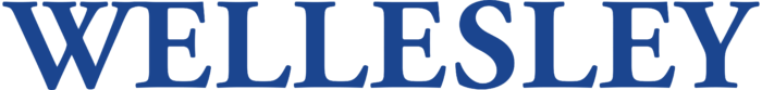 Wellesley logo, wordmark, blue