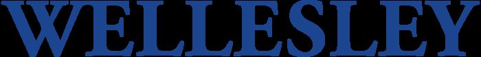 Wellesley logo, wordmark, blue