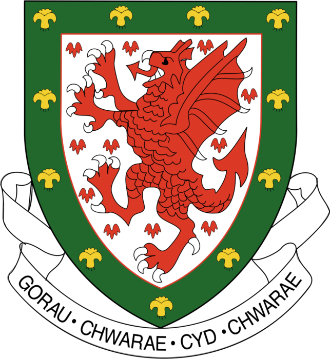 Welsh national football team logo, logotype, emblem 2