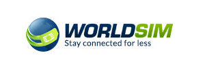 WorldSIM logo, slogan