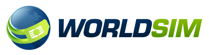 WorldSIM logo, white background (World SIM)