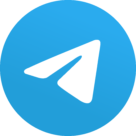 Telegram 5.x version (2019) Logo