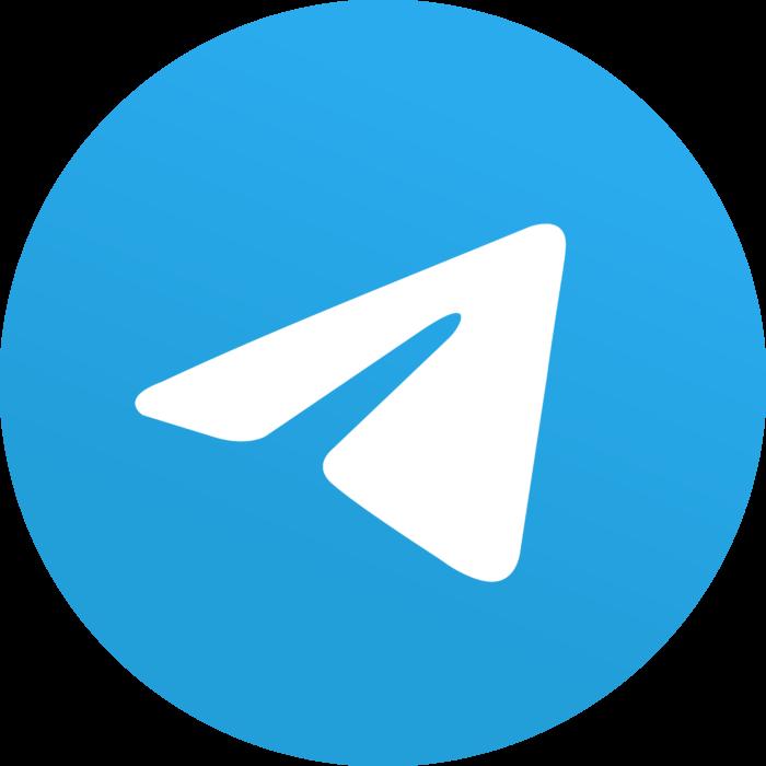 Telegram 5.x version (2019) Logo
