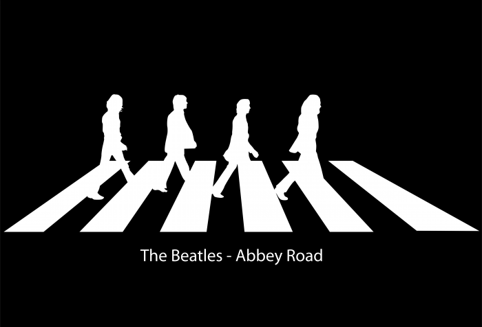 The Beatles logo road