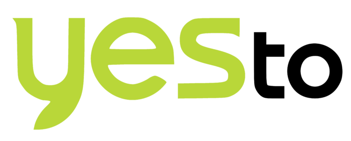 YesTo logo, green (Yes to)