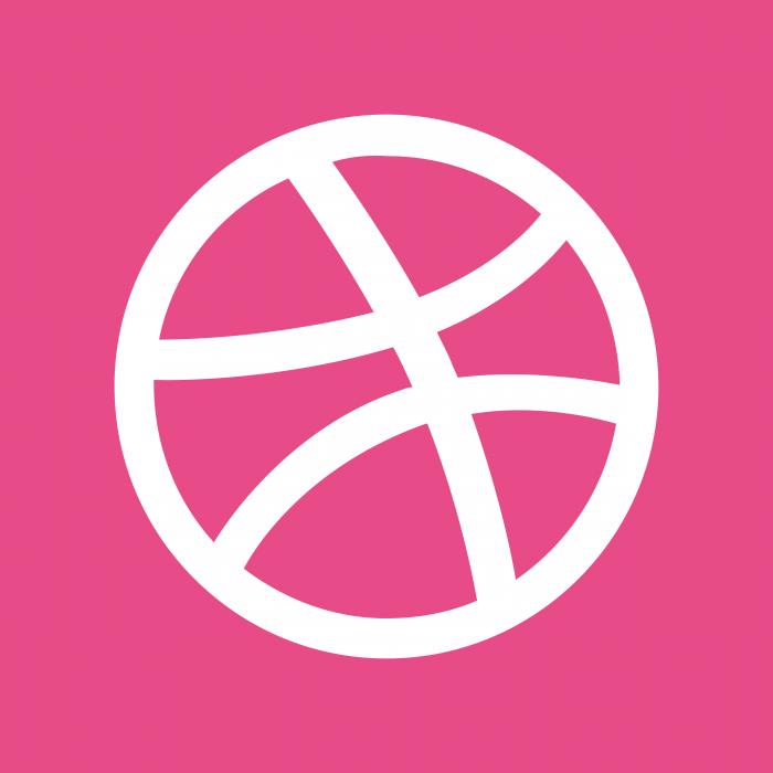 Dribbble logo cube