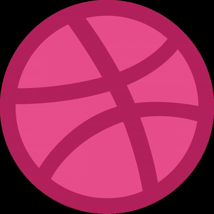 Dribbble logo perple