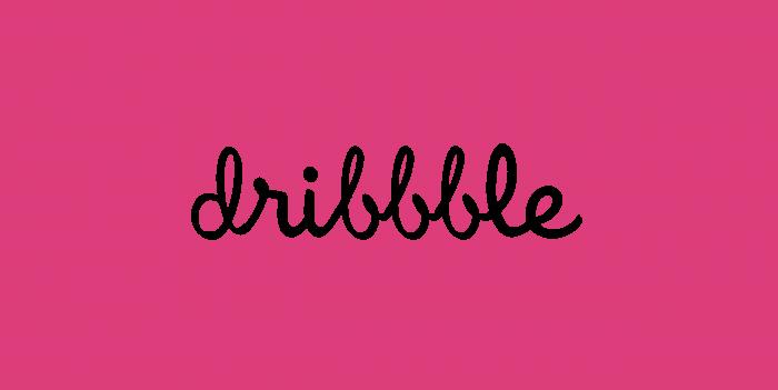 Dribbble logo pink