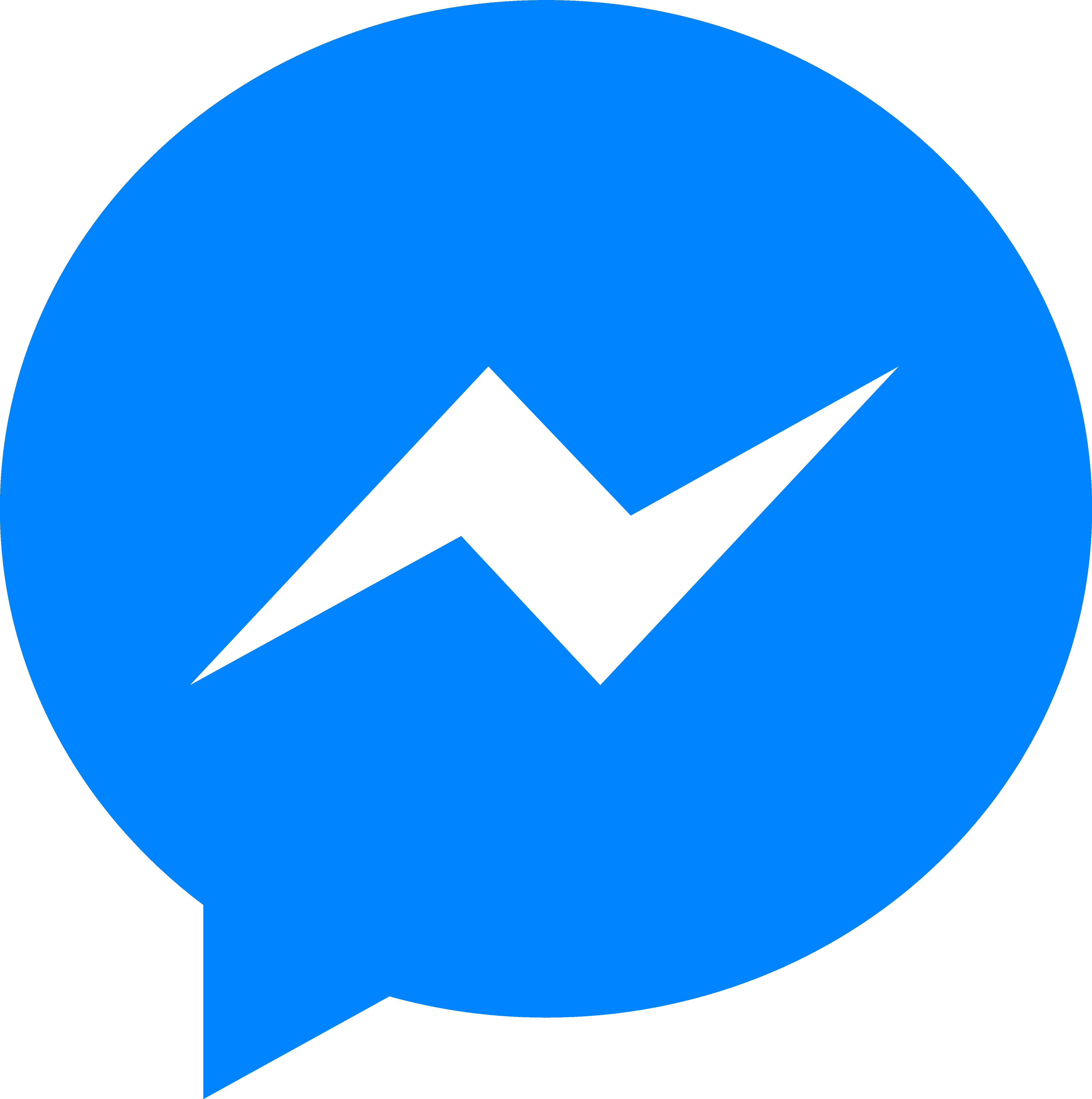 messenger logos transparent clickable sizes them