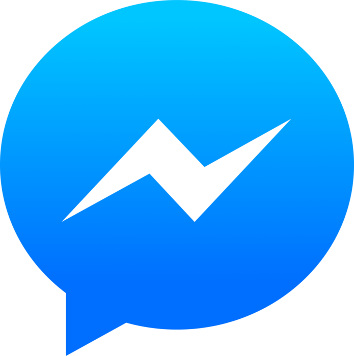 Facebook Messenger logo, gradient