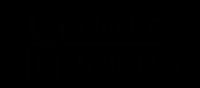 Game of Thrones logo, logotype, wordmark