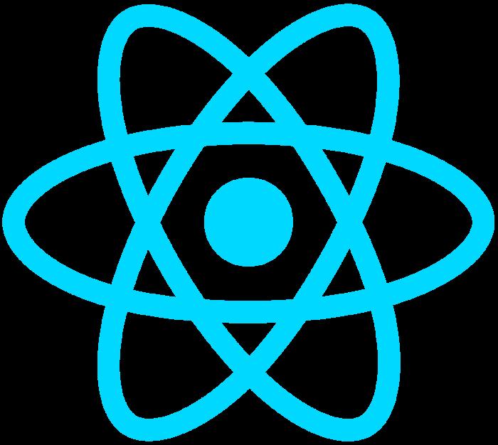 React logo, logotype, emblem