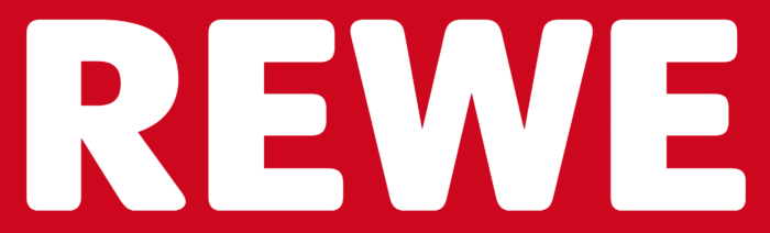 Rewe logo, red