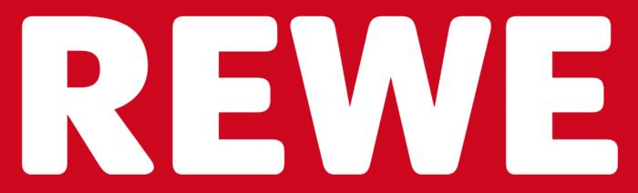 Rewe logo, red