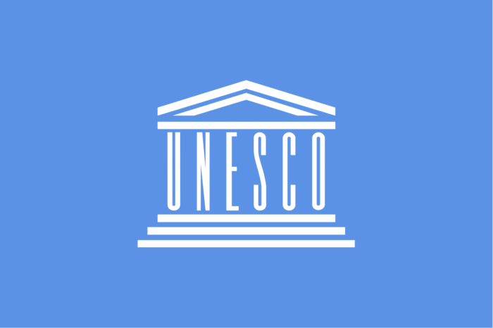 UNESCO flag, logo