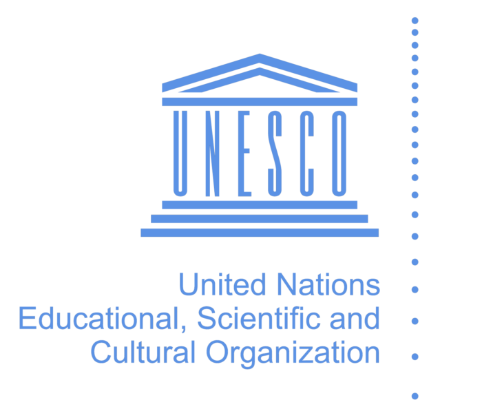 Unesco logo, blue