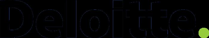 Deloitte logo, black