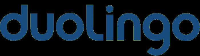 Duolingo logo, blue