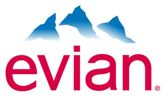 Evian logo, logotype