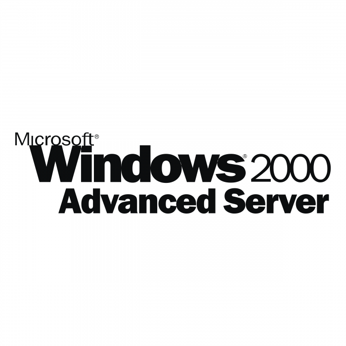 Microsoft Windows 2000 logo advanced erver