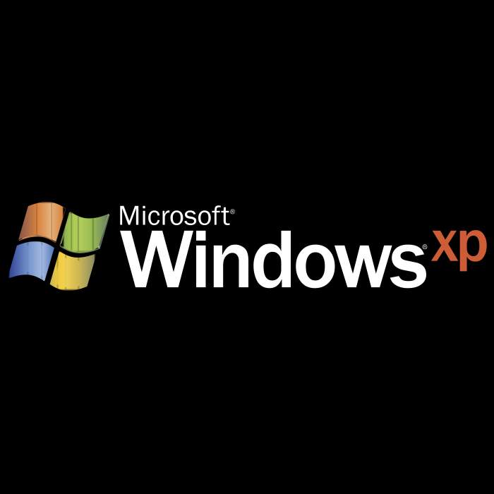 Microsoft Windows XP logo black