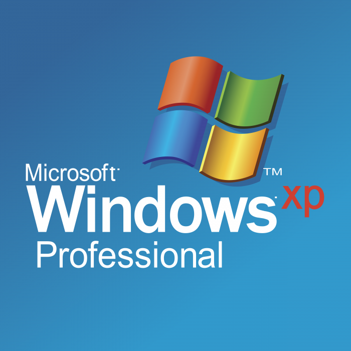 Microsoft Windows XP logo blue