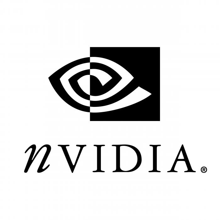 NVIDIA logo black R