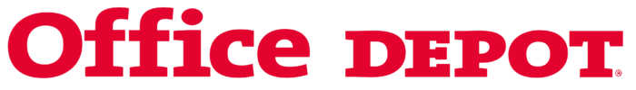 Office Depot logo, text