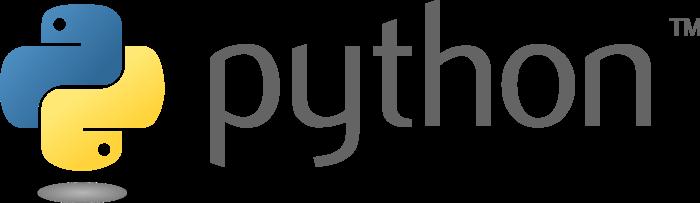 Python logo, wordmark
