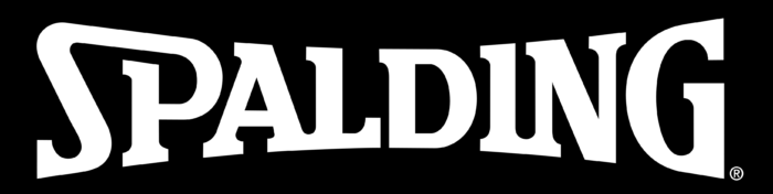 Spalding logo, black and white