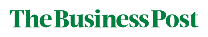 The Business Post logo, white-green