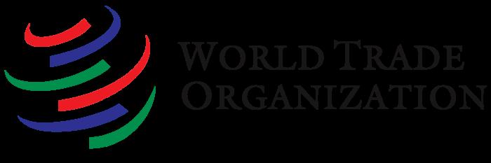 WTO logo, text, wordmark (World Trade Organization)
