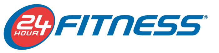 24 Hour Fitness logo, wordmark, blue
