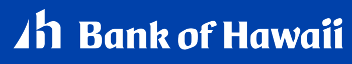 Bank of Hawaii logo, white-blue