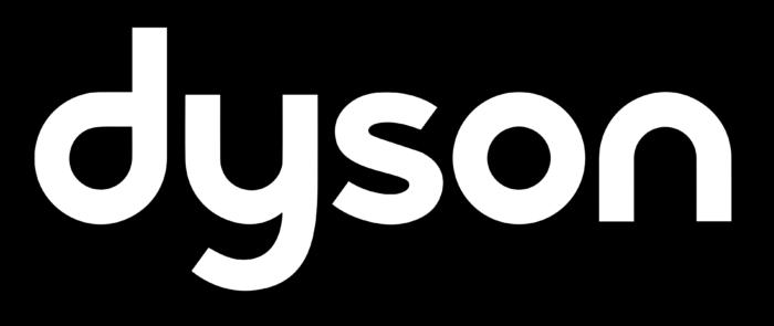 Dyson logo, white-black
