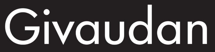 Givaudan logo, logotype, black