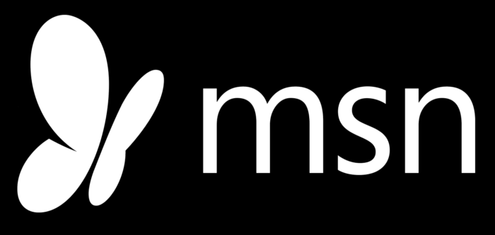 MSN logo, white-black