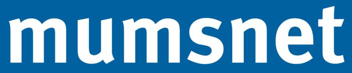 Mumsnet logo, white-blue