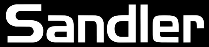 Sandler logo, white-black