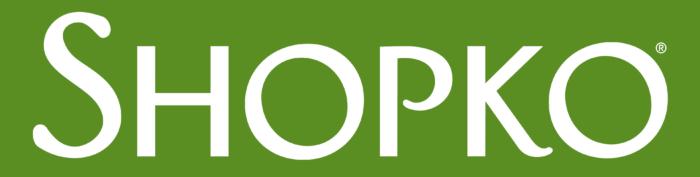 Shopko logo, green
